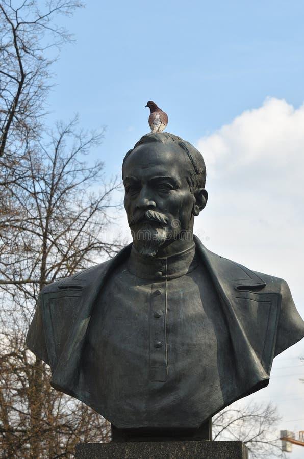 Felix Dzerzhinsky-monument in Minsk, Wit-Rusland stock foto's