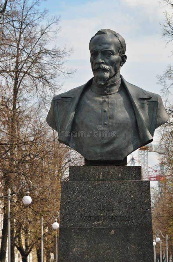 Felix Dzerzhinsky-monument in Minsk, Wit-Rusland royalty-vrije stock fotografie