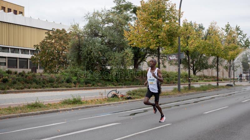 Felix Kandie Alla Maratona Di Berlino Del 2019 A Berlino, Germania immagini stock