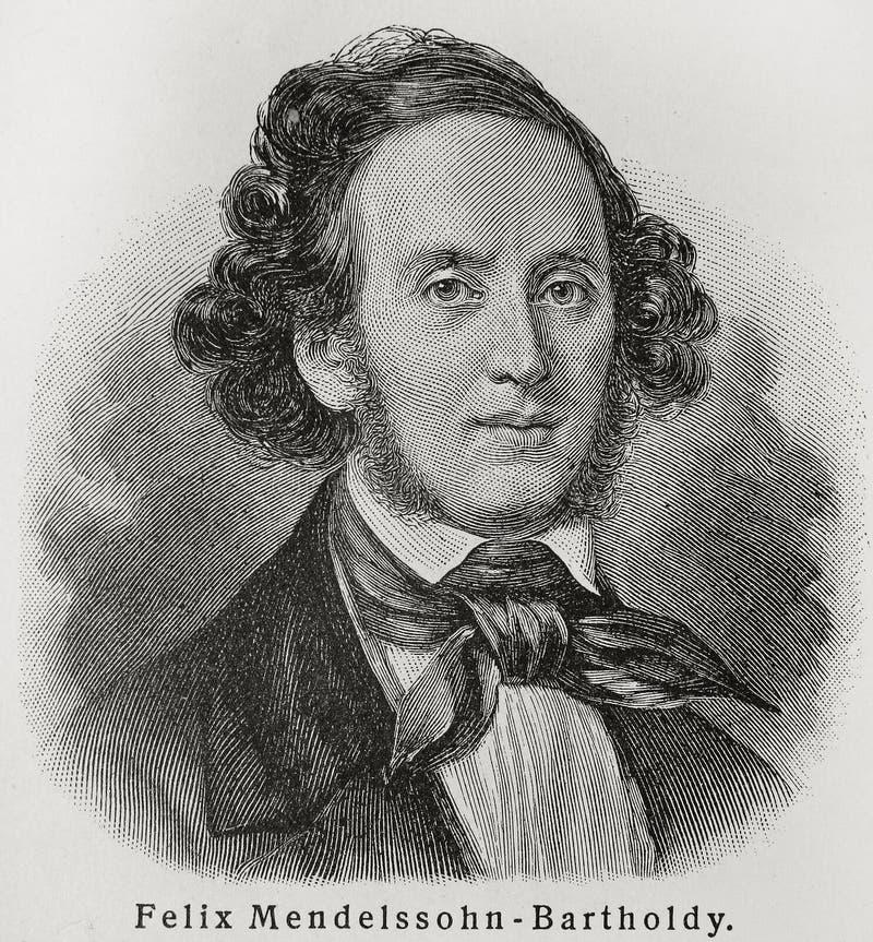 Felix Mendelssohn imagem de stock