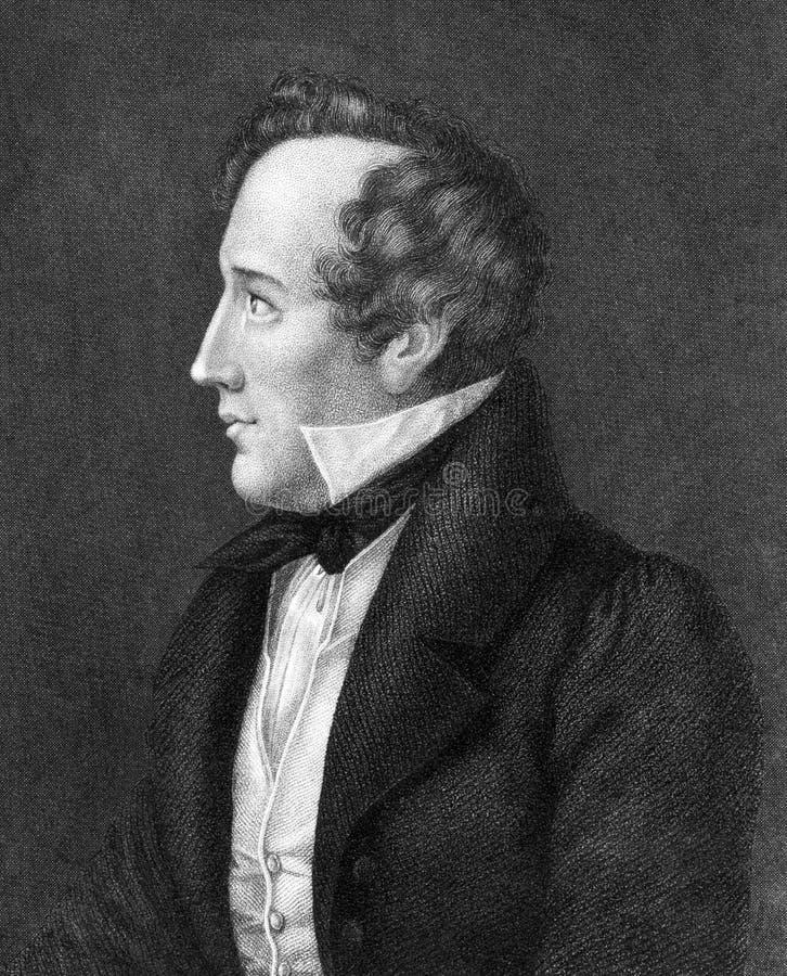 Felix Mendelssohn zdjęcie stock