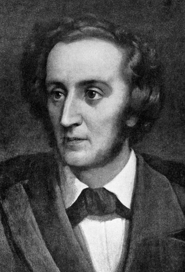 Felix Mendelssohn stock afbeelding