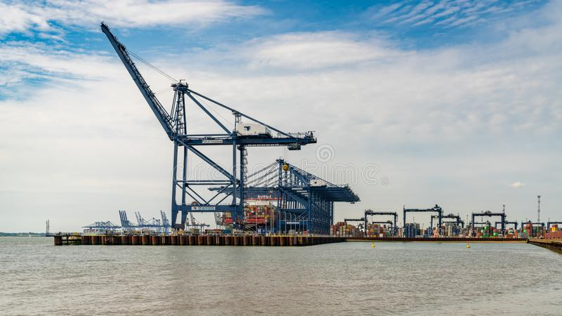 Felixstowe Harbour, Suffolk, England, UK royalty free stock photography