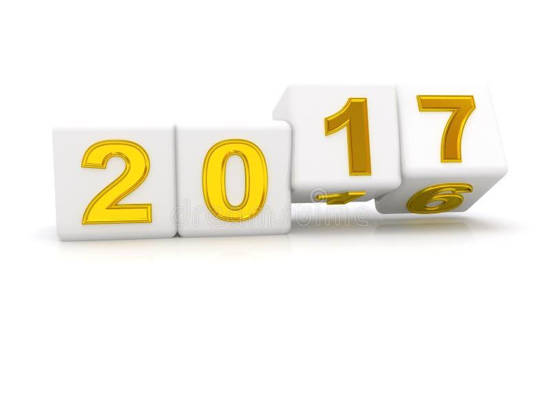 Feliz Año Nuevo 2017 ilustración del vector