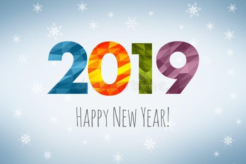 Feliz Año Nuevo 2019 ilustración del vector