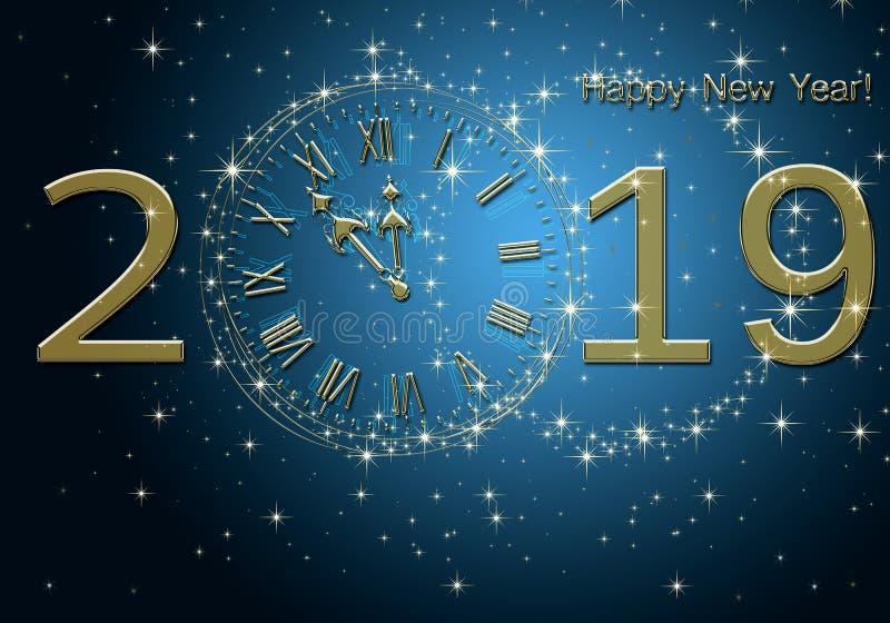 Feliz Año Nuevo 2019 fotografía de archivo