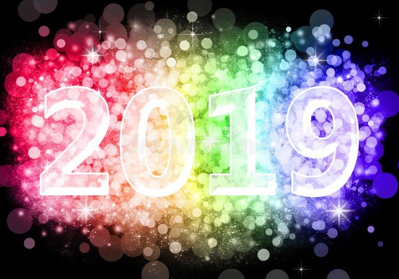 Feliz Año Nuevo 2019 foto de archivo