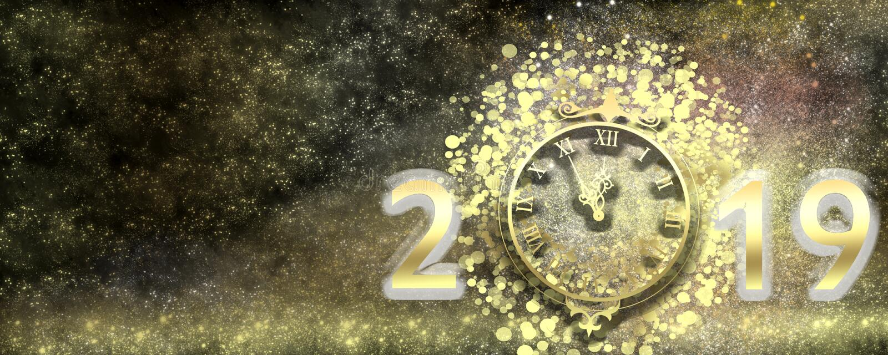 Feliz Año Nuevo 2019 imágenes de archivo libres de regalías