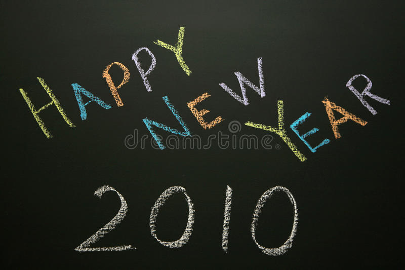Feliz Año Nuevo 2010 foto de archivo libre de regalías