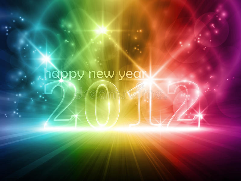 Feliz Año Nuevo 2010 ilustración del vector