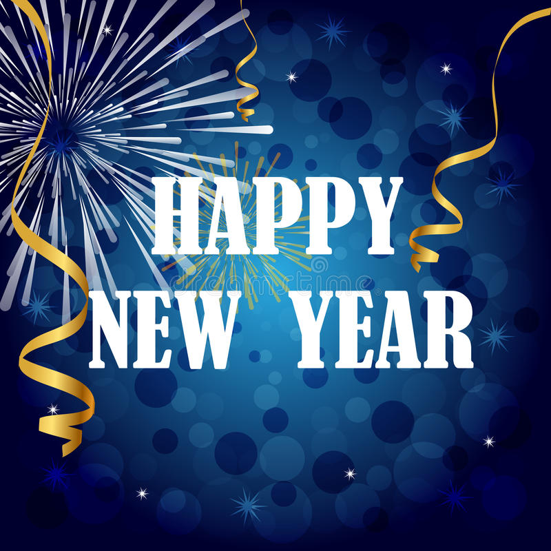 Feliz Año Nuevo ilustración del vector