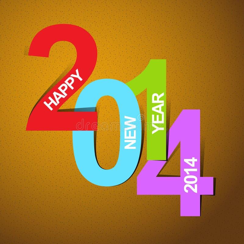 Feliz Año Nuevo 2014 libre illustration