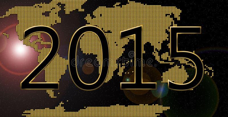 Feliz Año Nuevo 2015 ilustración del vector