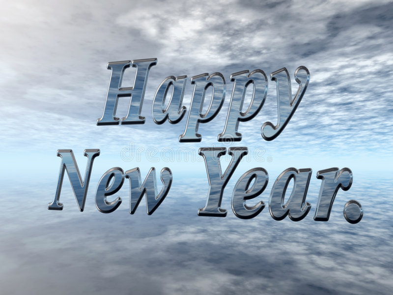 Feliz Año Nuevo. ilustración del vector