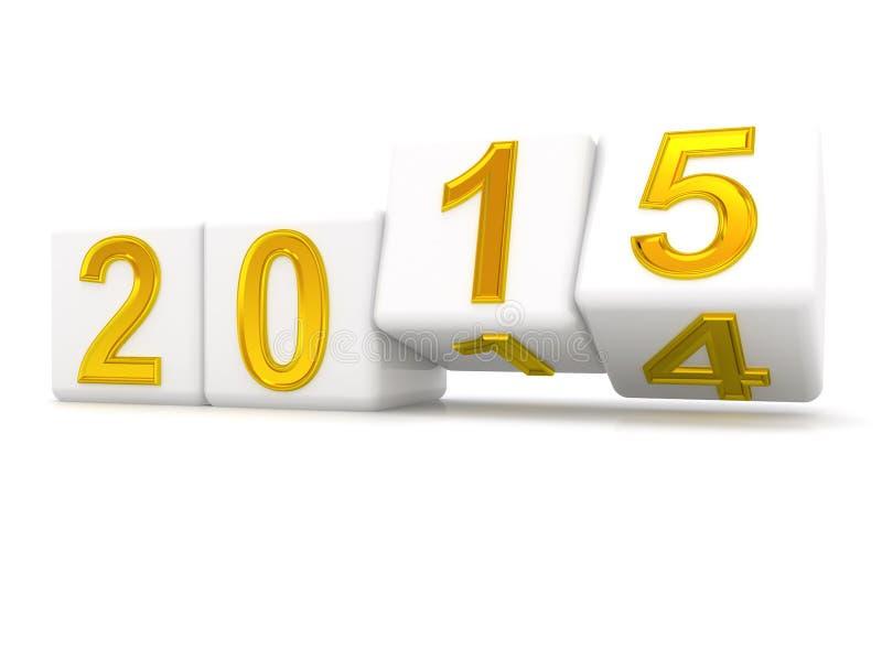 Feliz Año Nuevo 2015. stock de ilustración