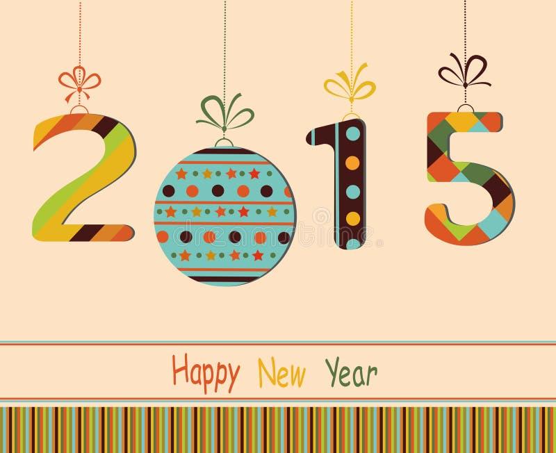 Feliz Año Nuevo 2015 stock de ilustración