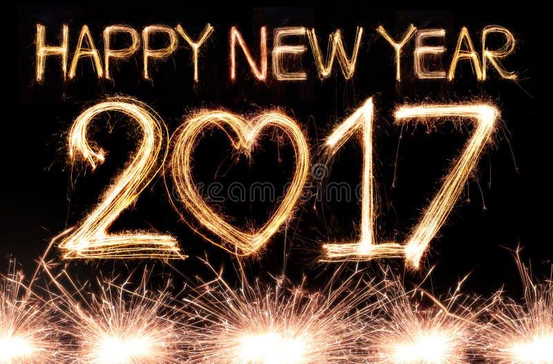 Feliz Año Nuevo 2017 imágenes de archivo libres de regalías