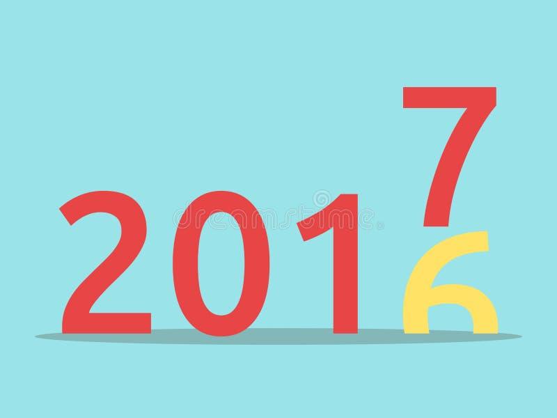 Feliz Año Nuevo 2017 stock de ilustración