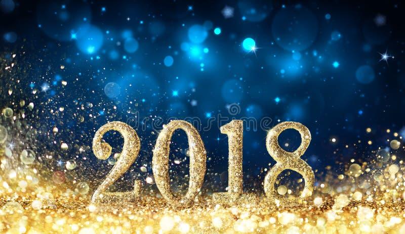 Feliz Año Nuevo 2018 - brillando foto de archivo