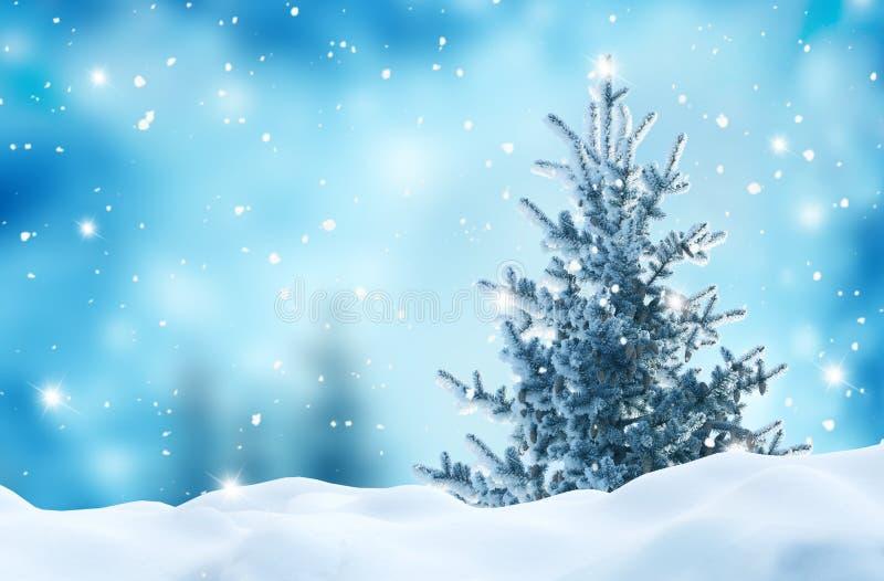 Feliz año nuevo con árbol de Navidad foto de archivo libre de regalías