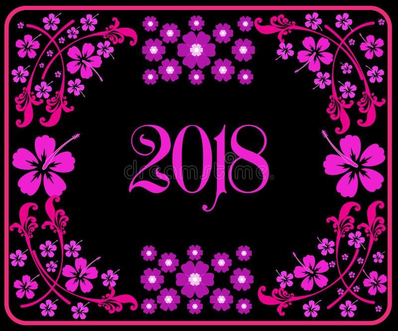 Feliz Año Nuevo 2018 con el fondo imagen de archivo libre de regalías