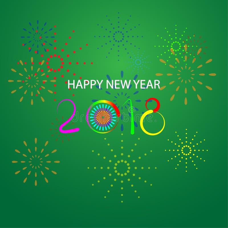 Feliz Año Nuevo 2018 con el fondo fotos de archivo libres de regalías