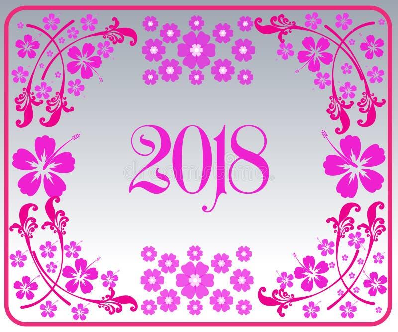 Feliz Año Nuevo 2018 con el fondo imagen de archivo