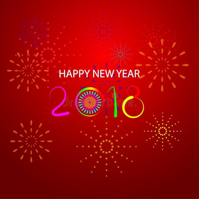 Feliz Año Nuevo 2018 con el fondo fotografía de archivo libre de regalías