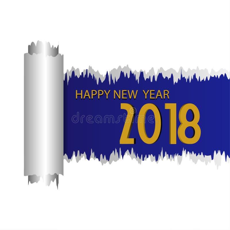 Feliz Año Nuevo 2018 con el fondo foto de archivo libre de regalías
