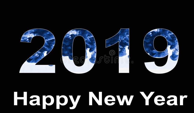 Feliz Año Nuevo 209 con el terraplén de color de agua libre illustration