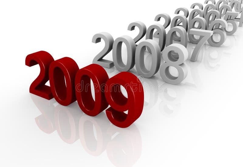 Feliz Año Nuevo de la celebración stock de ilustración