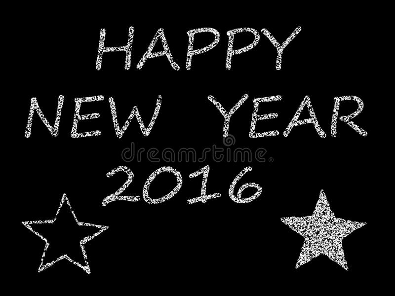 Feliz Año Nuevo 2016 de la enhorabuena libre illustration