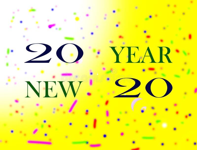 Feliz Año Nuevo de la imagen stock de ilustración