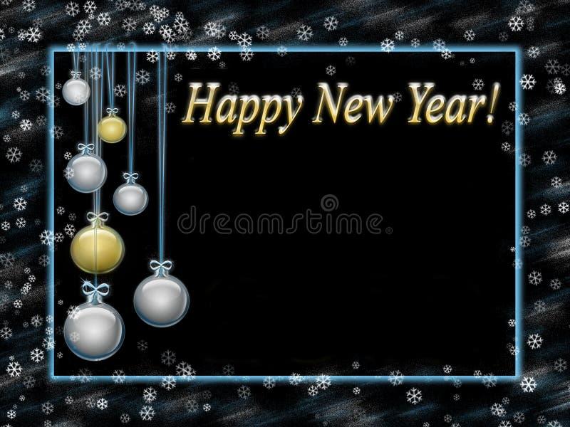 Feliz Año Nuevo de la tarjeta de felicitación stock de ilustración