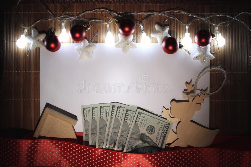 Feliz Año Nuevo de la tarjeta y Feliz Navidad imagenes de archivo