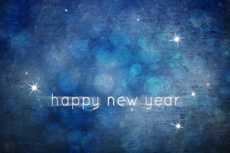 Feliz Año Nuevo del copo de nieve abstracto azul precioso del Grunge stock de ilustración