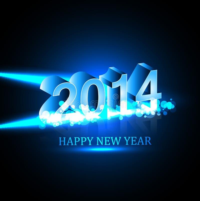Feliz Año Nuevo 2014 del día de fiesta de la celebración del vector ilustración del vector