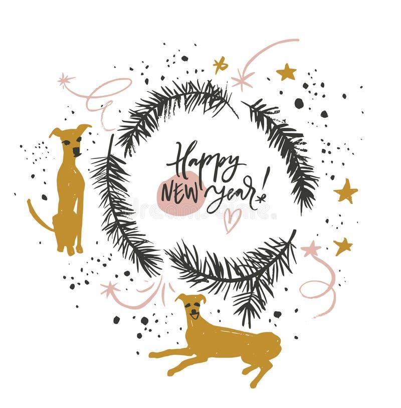 Feliz Año Nuevo del perro libre illustration