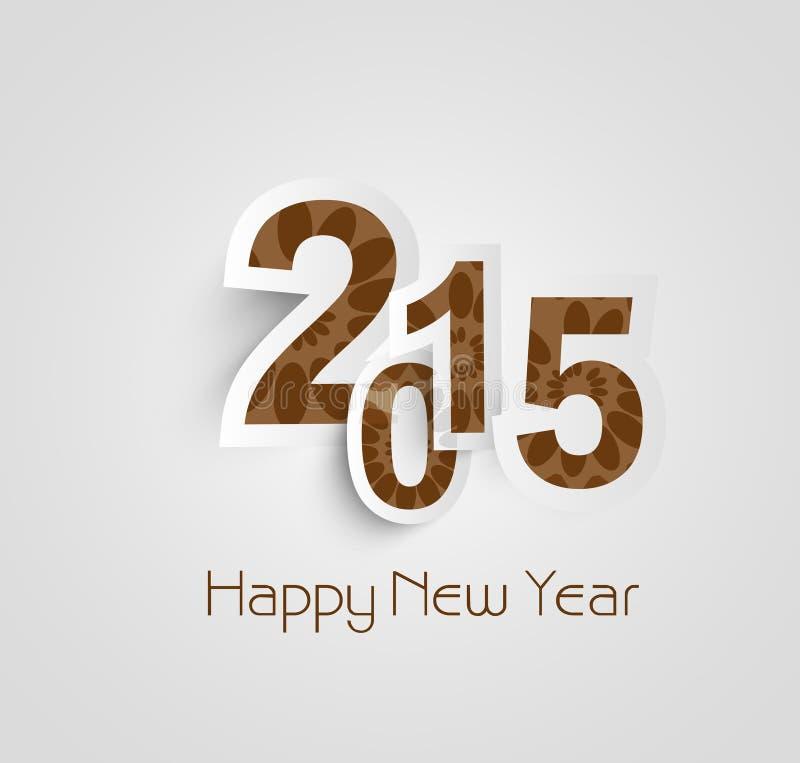 Feliz Año Nuevo 2015 del texto hermoso hermosa stock de ilustración