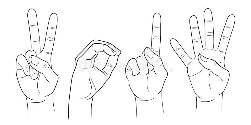 Feliz Año Nuevo, demostración número 2014 de la mano libre illustration