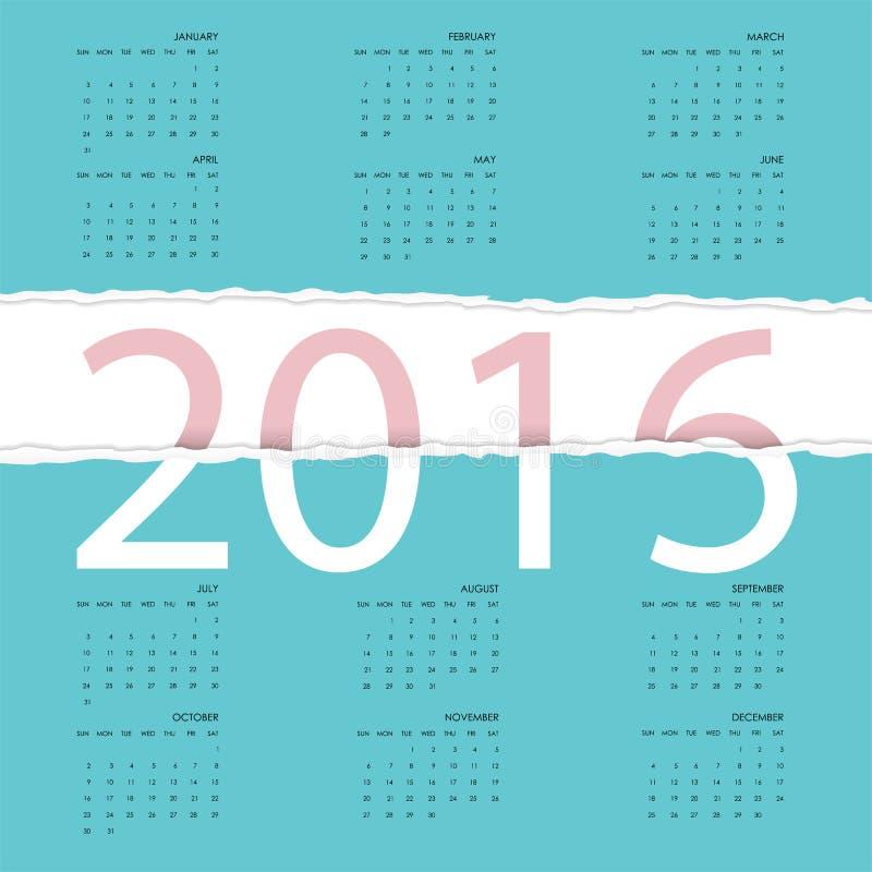Feliz Año Nuevo 2016 Diseño colorido de la tarjeta de felicitación Illustr del vector libre illustration