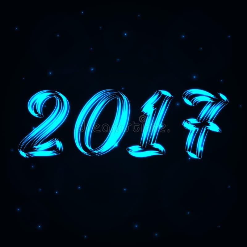 Feliz Año Nuevo 2017, ejemplo del vector stock de ilustración