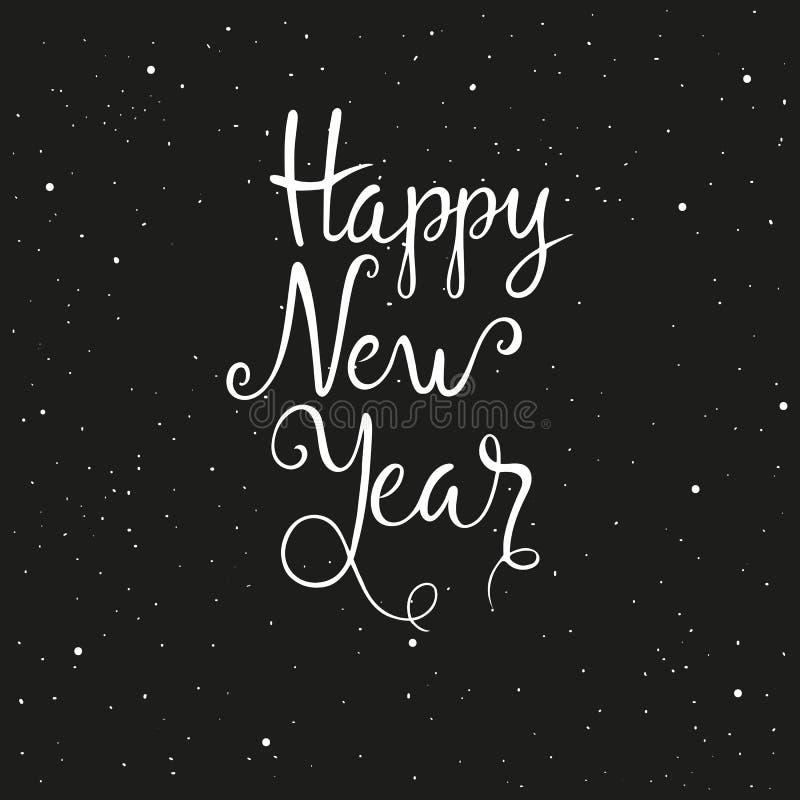 Feliz Año Nuevo 2017 Ejemplo dibujado mano del vector para el día de fiesta Letras del Año Nuevo ilustración del vector