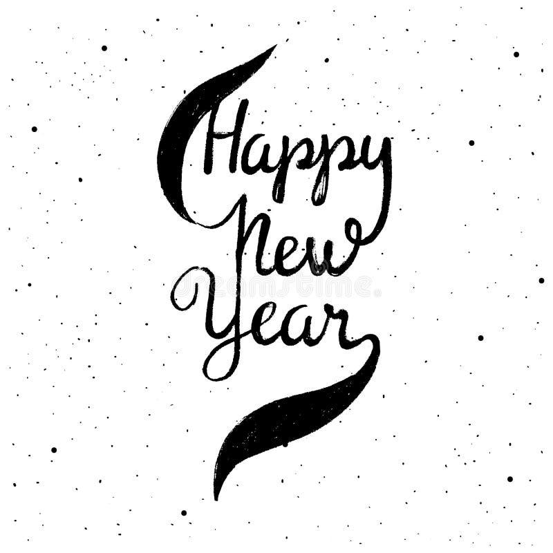 Feliz Año Nuevo 2017 Ejemplo dibujado mano del vector para el día de fiesta Letras del Año Nuevo stock de ilustración