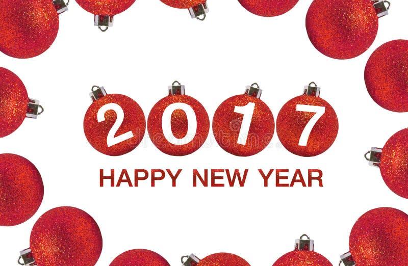 Feliz Año Nuevo 2017 en fondo abstracto ilustración del vector