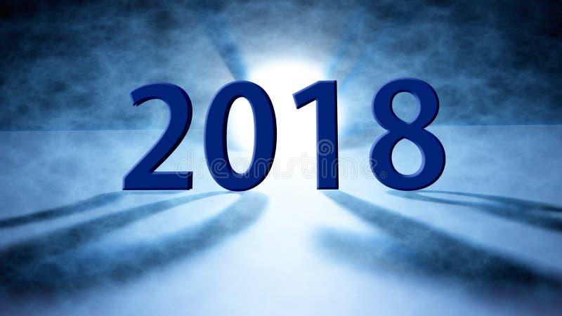 Feliz Año Nuevo fondo de 2018 días de fiesta 2018 Felices Año Nuevo saludan fotografía de archivo libre de regalías