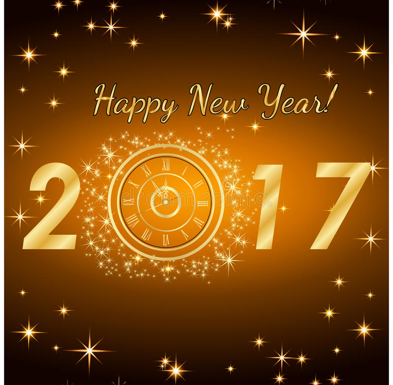 Feliz Año Nuevo 2017 Fondo del vector ilustración del vector