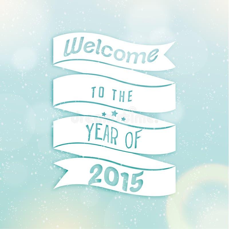 Feliz Año Nuevo 2015 saludos de la estación libre illustration