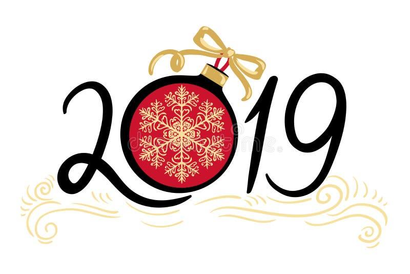 Feliz Año Nuevo y Feliz Navidad 2019 libre illustration
