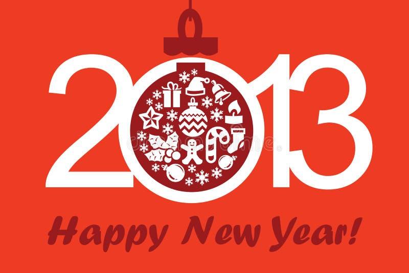 Feliz Año Nuevo y Navidad stock de ilustración
